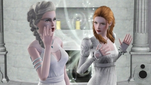 Melusina at Avalon with her sister, Vivianne https://timeslipsblog.wordpress.com/melusinas-story-a-royals-link-to-avalon/