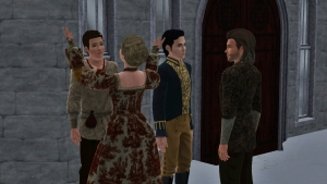 meeting of Henry and the tudor men
