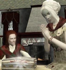 Melusina blesses the linen