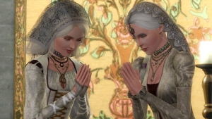 Two young Queens share a prayer for the future