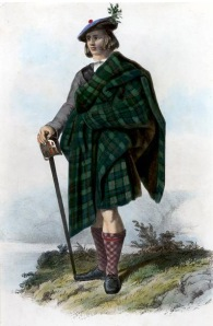 1800s depiction of a Macleod Tartan