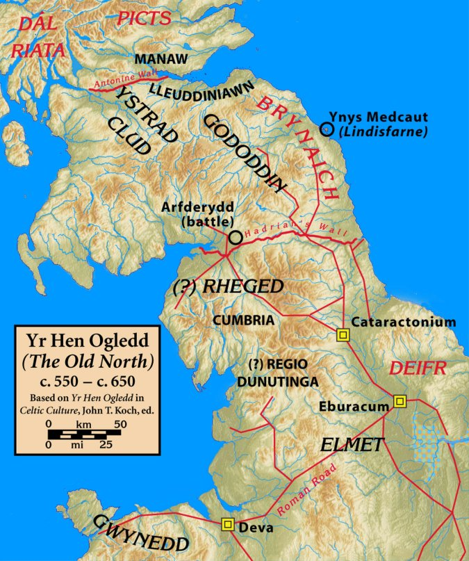 Old Celtic tribes of southern scotland and north east England