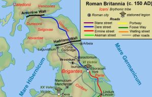 Roman era map of Britain