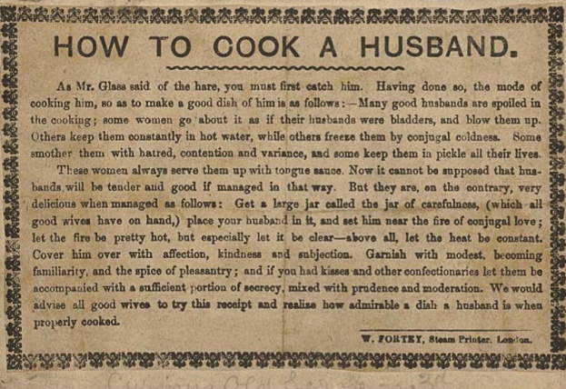 How to cook a husband 1710-1725