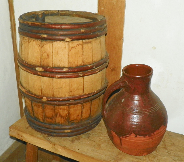 Rhenish wine cask with pitcher