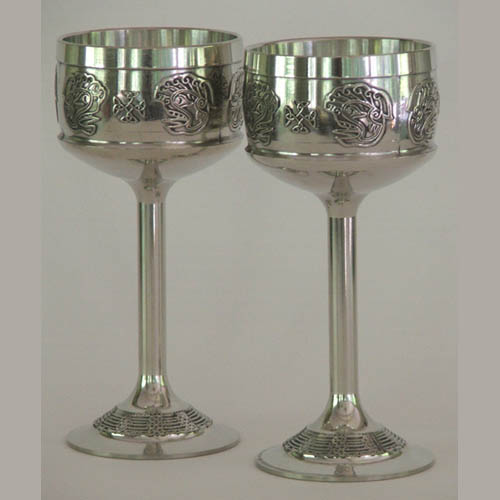 Celtic Wedding Hock Wine Goblets