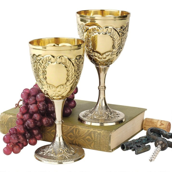 gold wine goblets from amazon