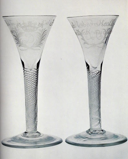 Jacobite wine goblets