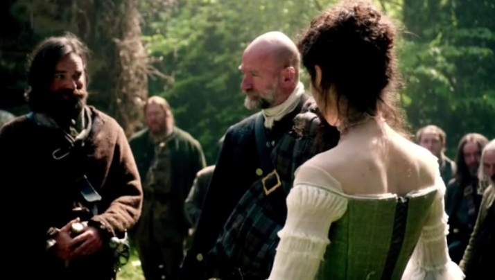 murtagh and Dougal inspecting the bride to be