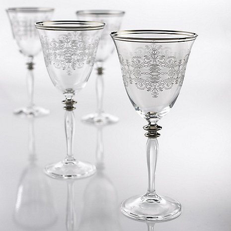 old world wine goblets