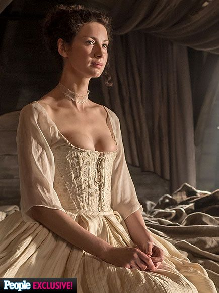 Outlander wedding dress first look