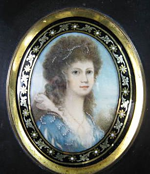 miniature of woman