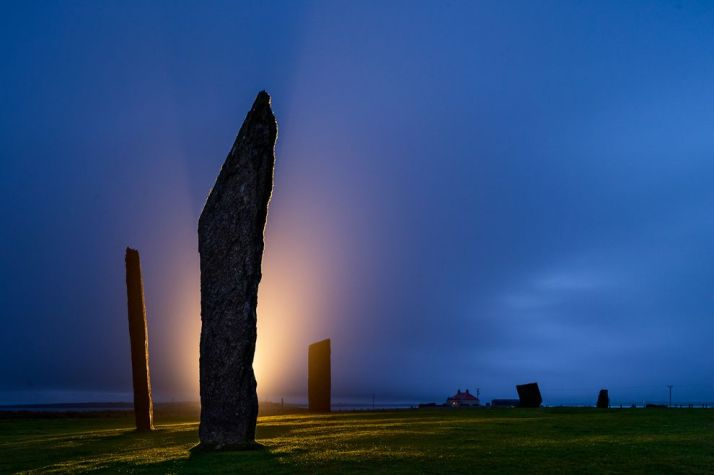 Standing Stones of Stennes on mainland of Orkney, Scotland