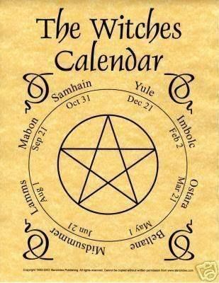 witches calander