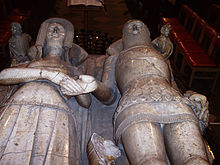Some of Claire's ancestors, Thoma De Beauchamp Earl of Warwick with wife Katherine Mortimer.