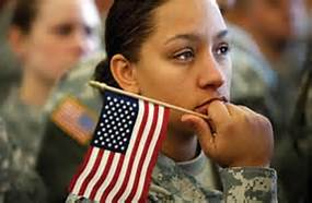 miltary woman