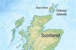 Orkney island skara brae map