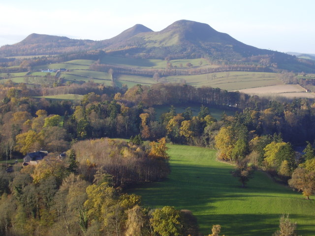 The Eildon Hills where Thomas the rhymer supposedly met the past