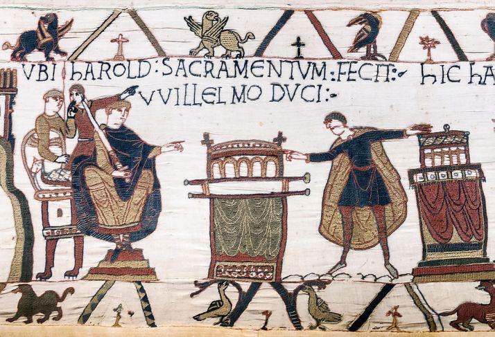 1024px-Bayeux_Tapestry_scene23_Harold_sacramentum_fecit_Willelmo_duci