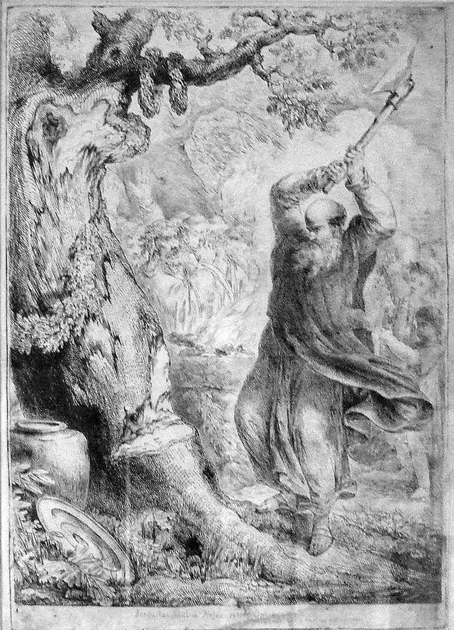 Saint Boniface and the donar tree
