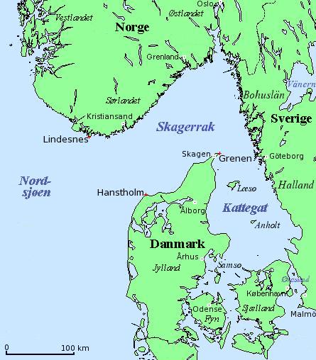 Kattegat, Danemark
