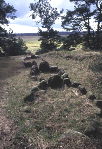 Ancient Stone ships at Altes-lager-menzlin
