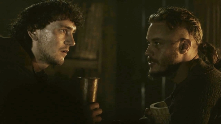 Athelstan explains England and his God to Ragnar