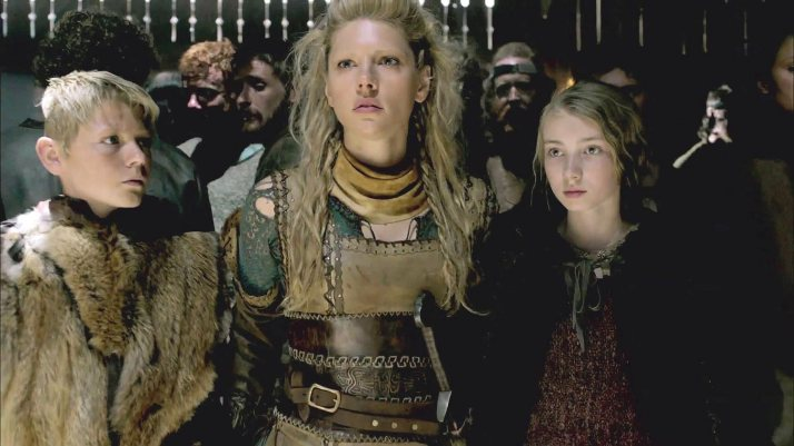 gyda with bjorn and Lagertha