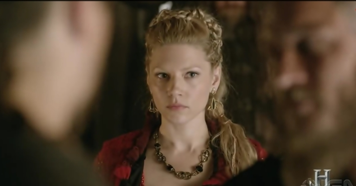 lagertha caught in middle of father and son