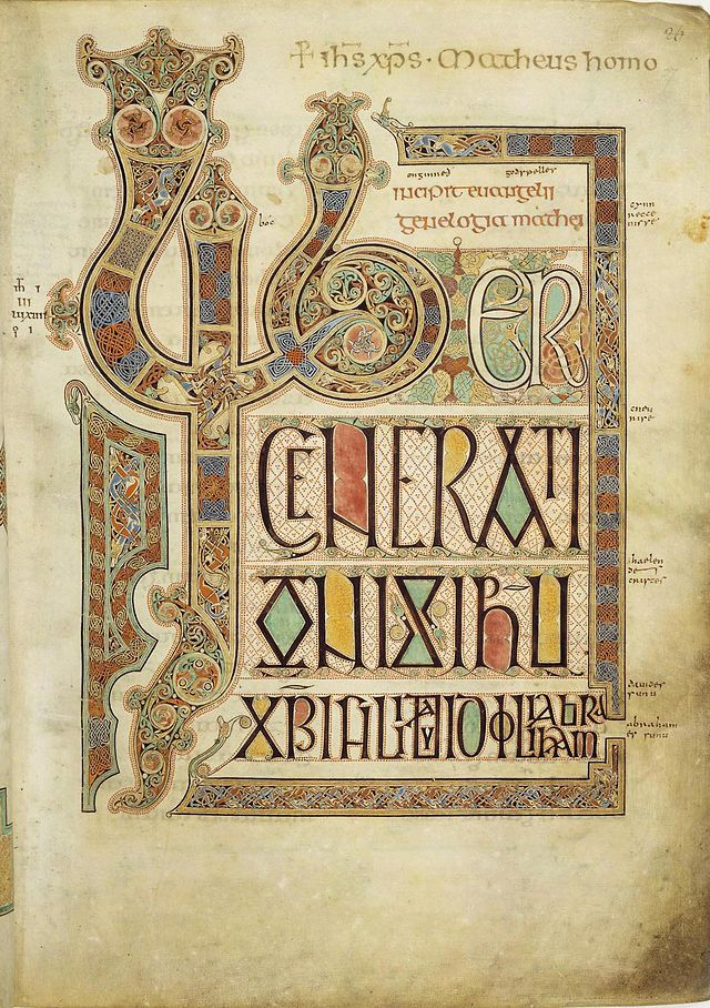 lindesfarne gospels Matthew