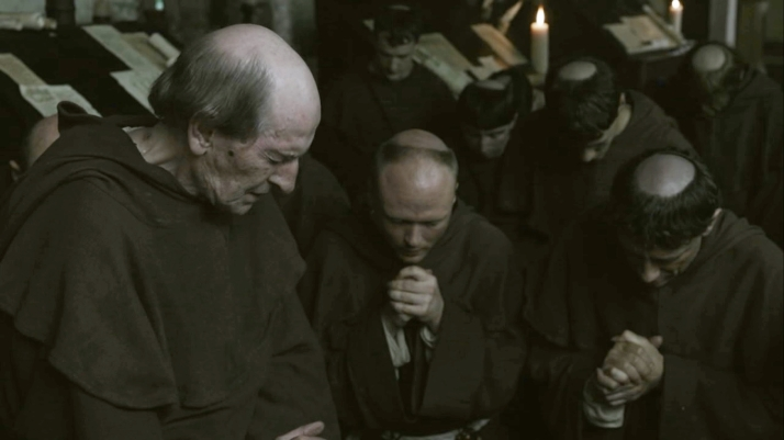 Monks pray for salvation