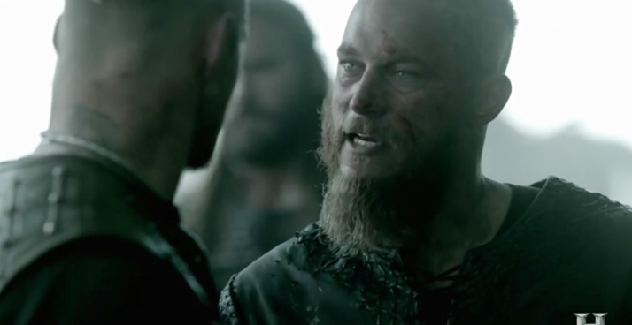 Ragnar berates Bjorn You have the strength of a man but the will of a little girl