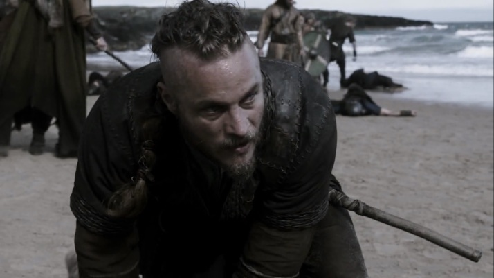 ragnar in the middle of a battle he did not want  now he must win
