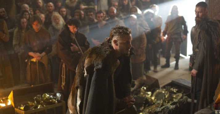 Ragnar with his treasure athelstan