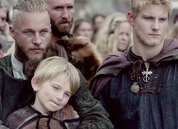 Grown Bjorn with Ragnar and young half brother.