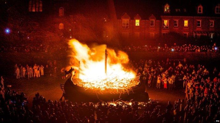 Up helly Aa Viking festival on shetland Isles