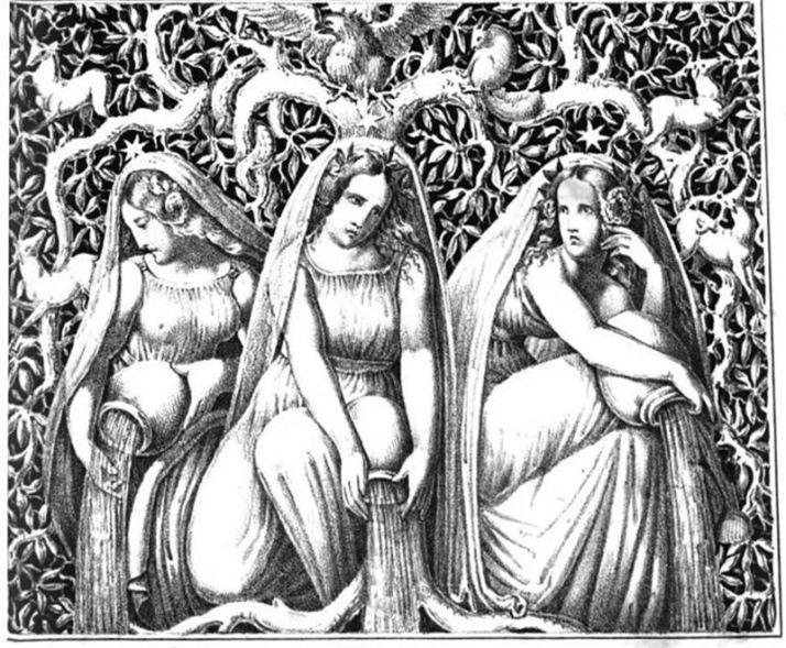 800px-Norns_(1832)_from_Die_Helden_und_Götter_des_Nordens,_oder_Das_Buch_der_sagen