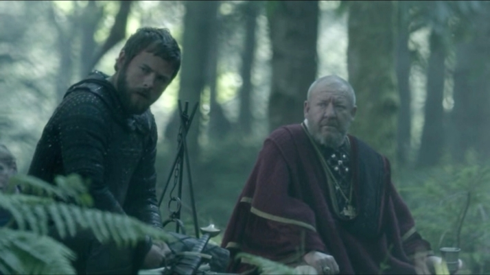 Aethelwulf and his priest look on in shock