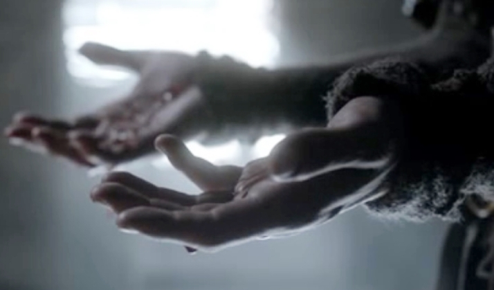 Athelstan's hands dripping in blood