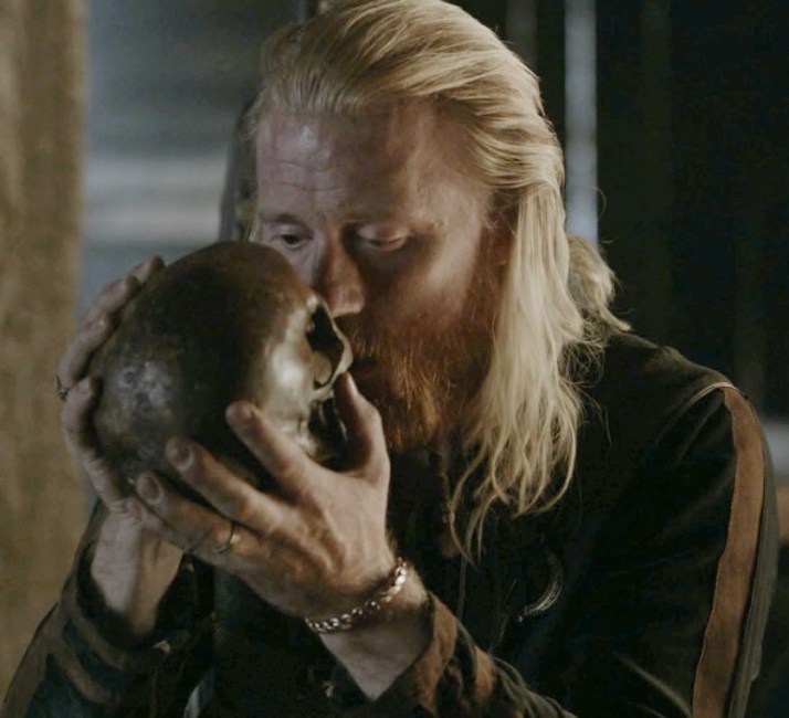 devoted embrace of his skull