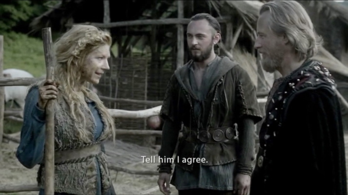 Farmer Lagertha agrees to visit Ecbert's home