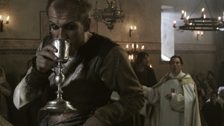 floki tastes the wine