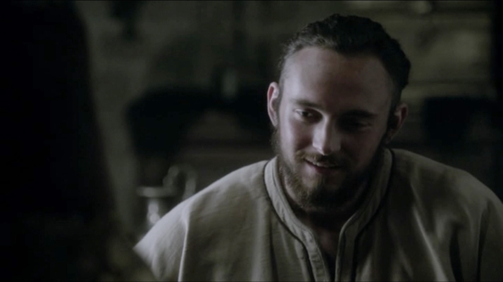 Is Athelstan blushing  I think he is