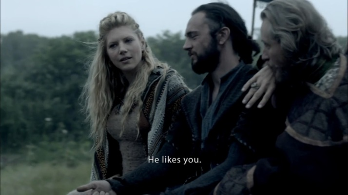 Lagertha is impressed at least a little
