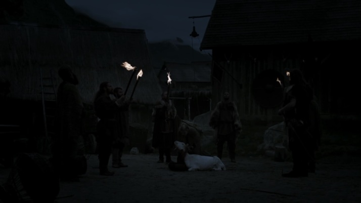 lagertha makes an offering to the gods in hope of stopping the sickness