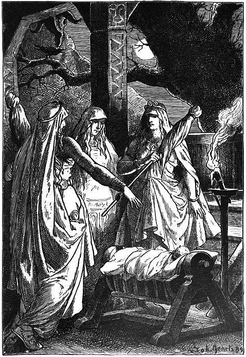 Norns three women spinners of destiny
