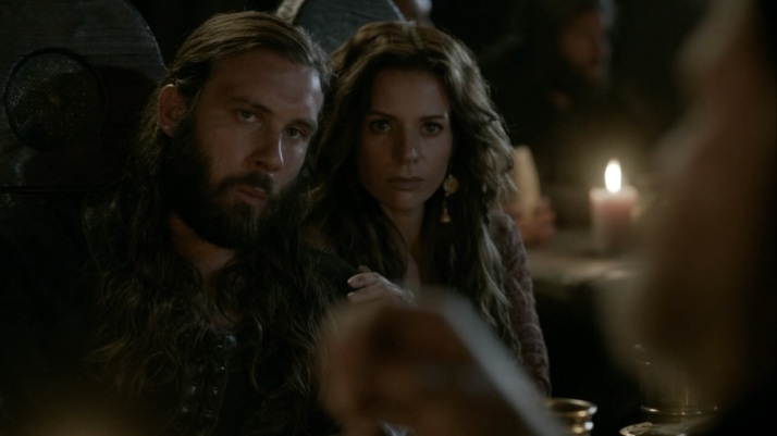 siggy and rollo listen closely to horik's plan of revenge on king ecbert