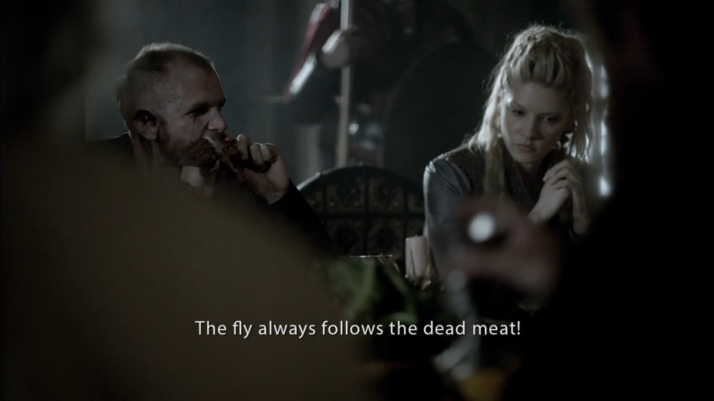 Yes I will fight  the fly always follows the dead meat