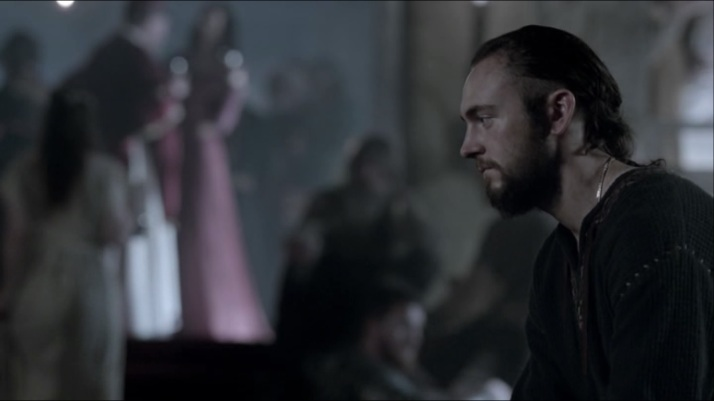 a pensive athelstan in the middle of the feast