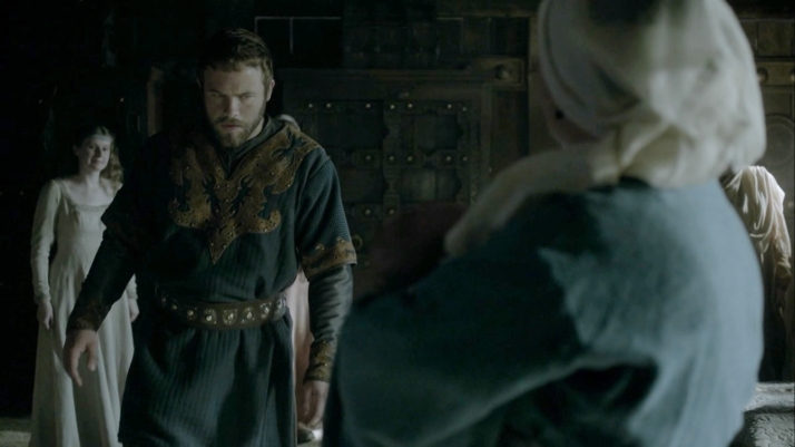aethelwulf barely pays glance at this child